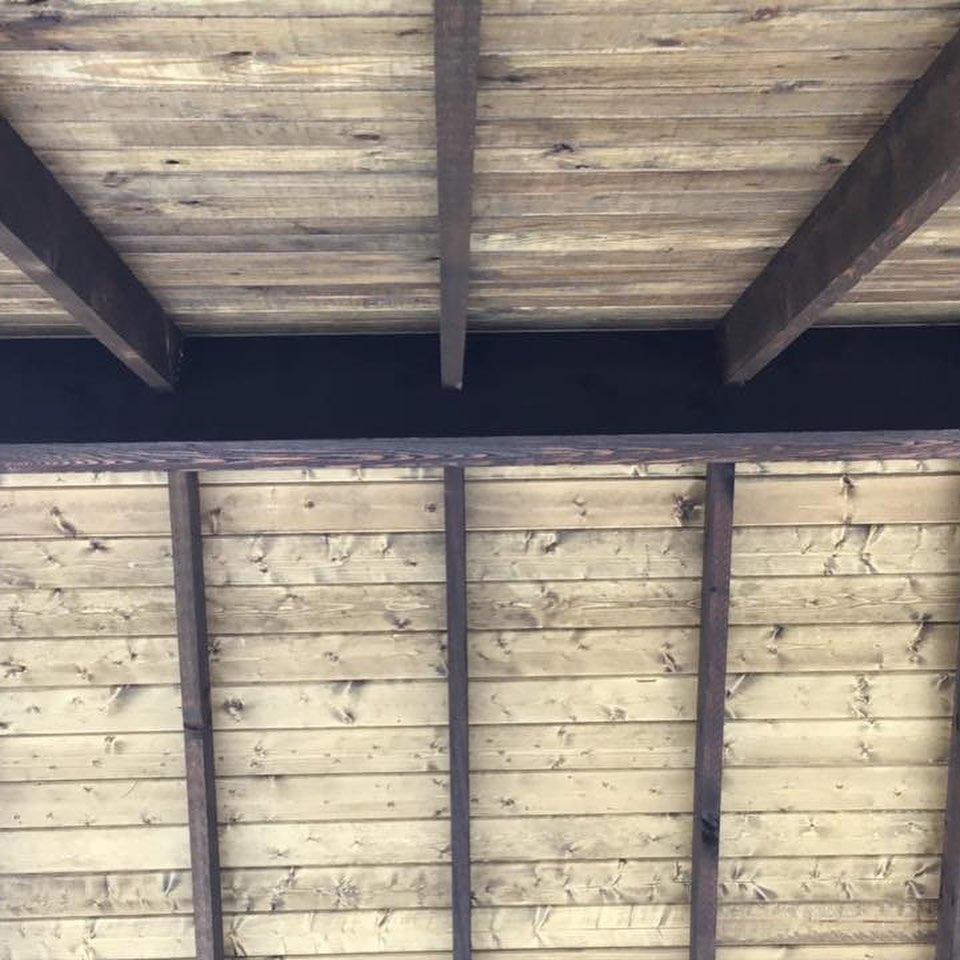 Exposed Wood Pavilion