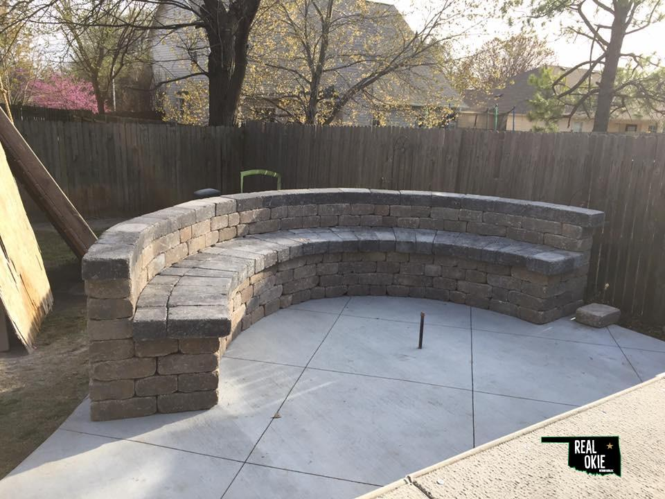 Tulsa Retaining Wall Job